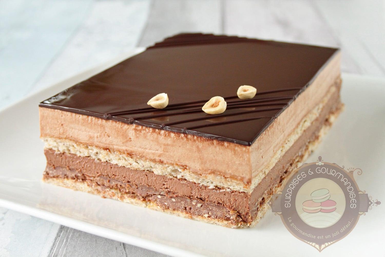 Entremets chocolat praliné