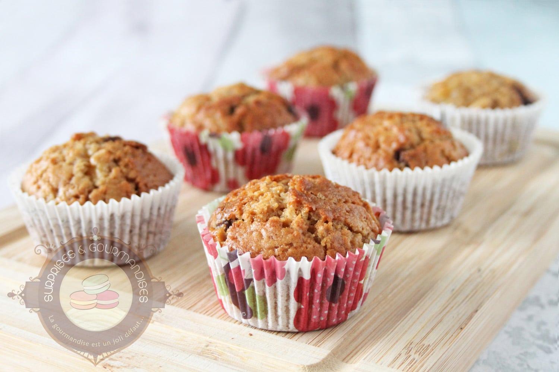 Muffins pépites de chocolat banane