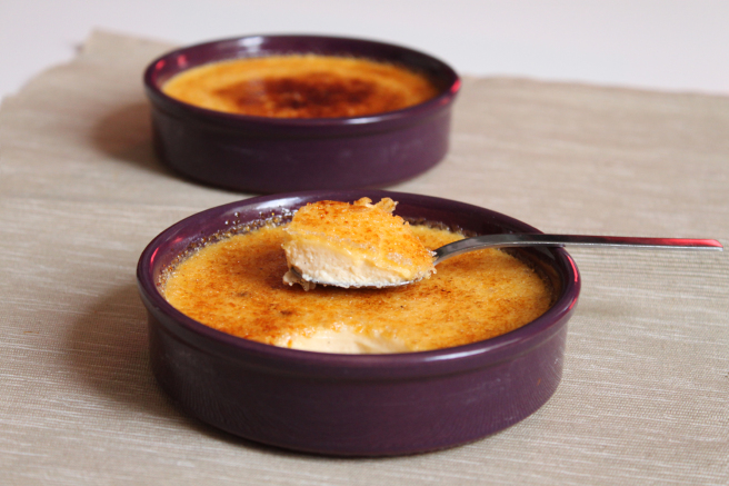 Crème brûlée à la vanille et fève tonka