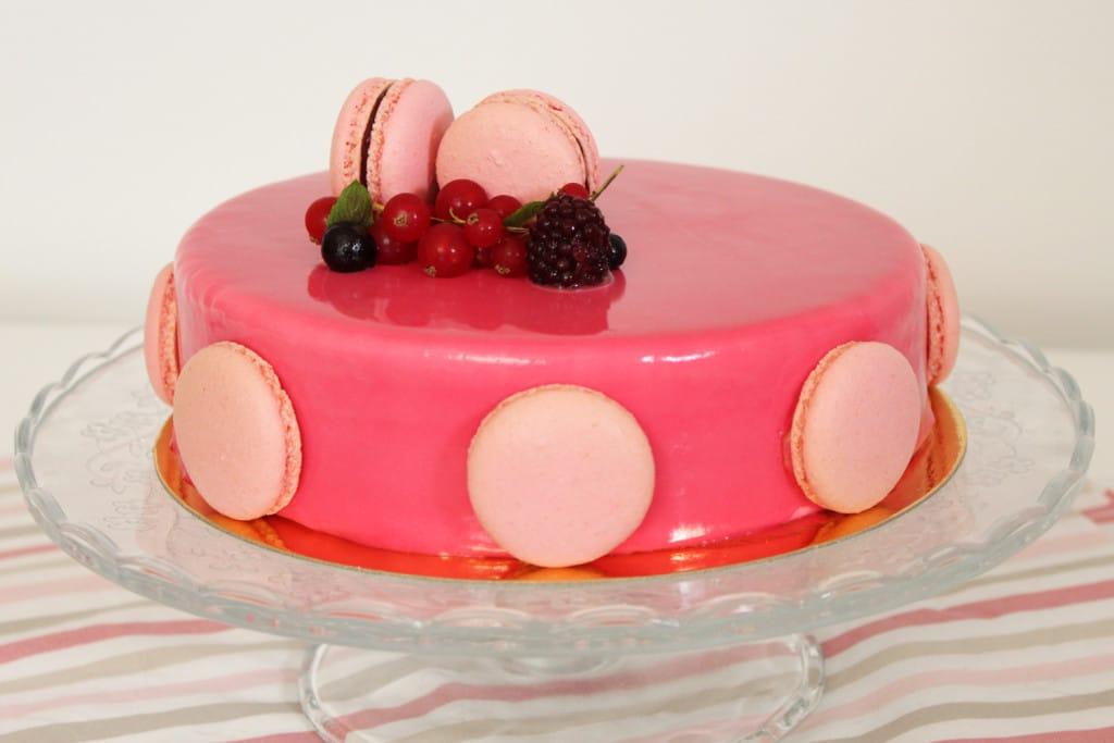 L 39 arc en ciel de patrick berger entremets fruits rouges for Glacage miroir rose