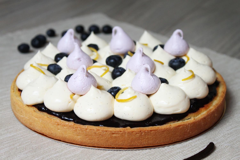 Tarte aux myrtilles et crème diplomate à la vanille { Foodista Challenge #11 }