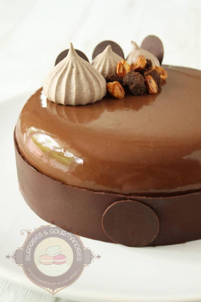 entremets chocolat poire et cacahu te surprises et gourmandises. Black Bedroom Furniture Sets. Home Design Ideas