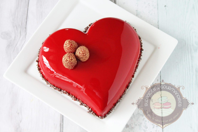 Bavarois chocolat noir et framboise d'Imane (le meilleur pâtissier)