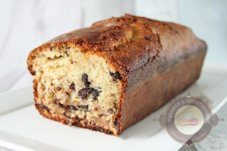 Cake à la banane et aux pépites de chocolat