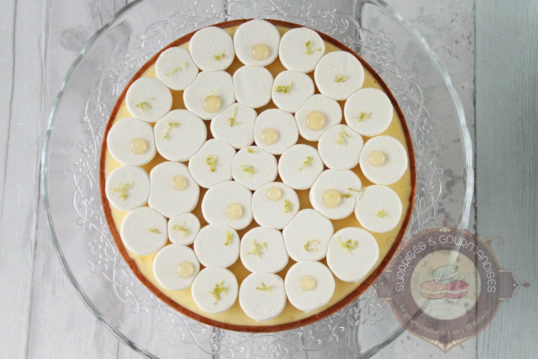 Tarte au citron vert et yuzu inspirée de Jeffrey Cagnes