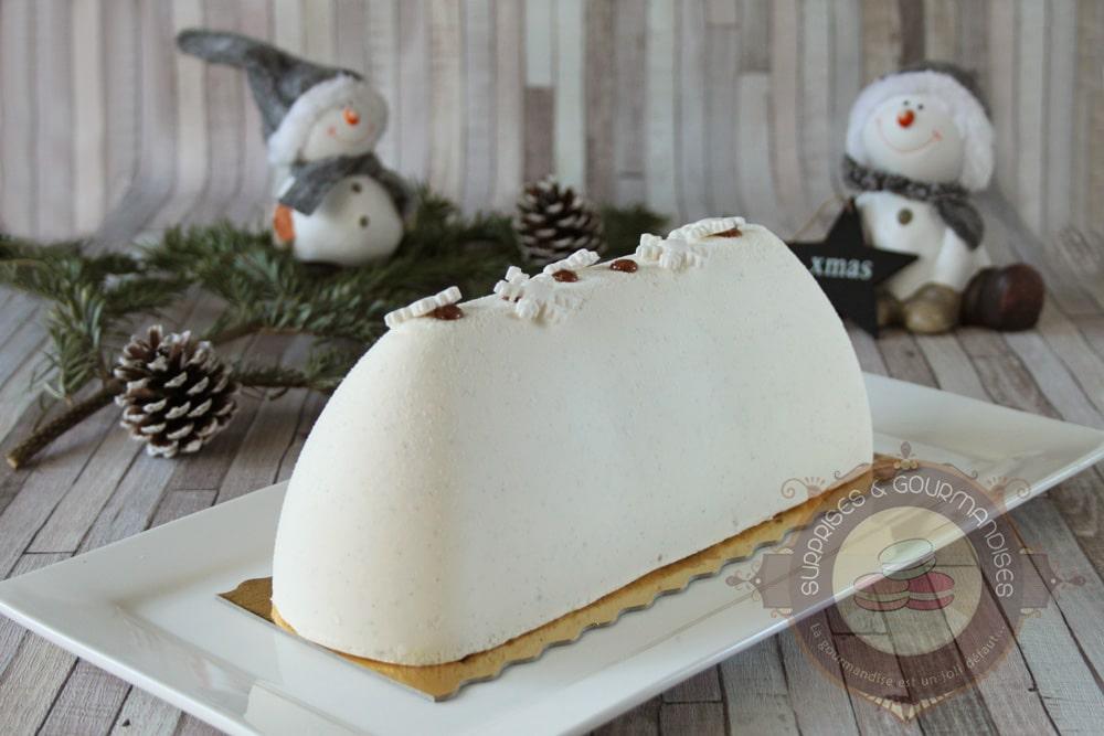 Bûche de Noël #29 : vanille et noix de pécan