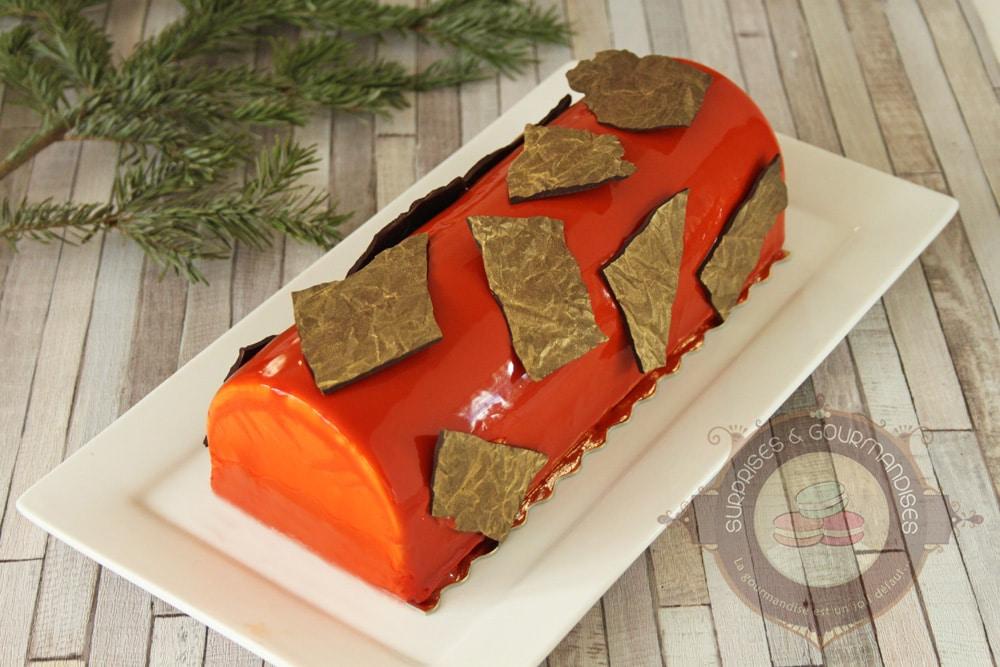 Bûche de Noël #30 : chocolat noir et caramel
