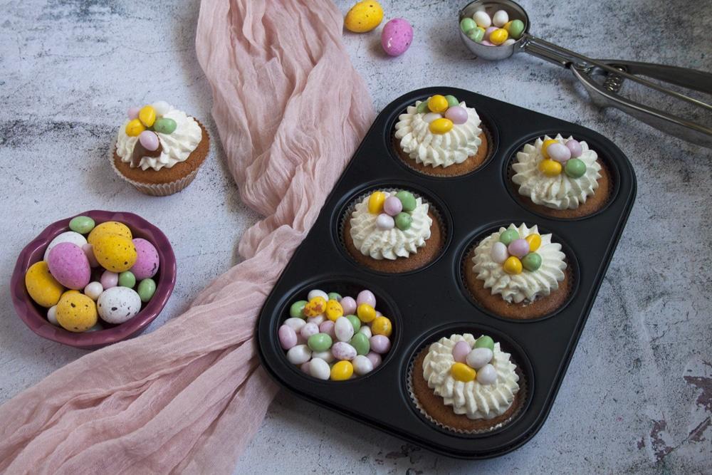 Cupcakes de Pâques (vanille et praliné noisette)