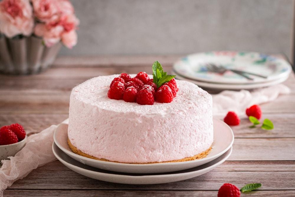 Gâteau glacé à la fraise